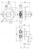 Rubio Inox inbouw 3 weg omsteller incl. inbouwdeel volledig RVS 1208777752