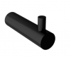 Waterevolution Flow handdoekhaakje mat zwart A150PR