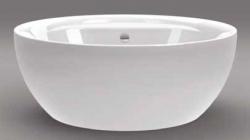 Beterbad Max vrijstaand bad rond ligbad acryl 160x62cm wit 7010-01