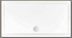 Beterbad Mariana Douchebak acryl wit 80x75 6851-01
