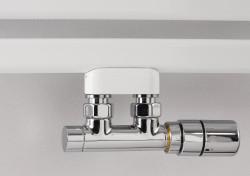 Instamat RVS radiator aansluitset midden onder haaks TW.HA.RVS