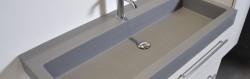 Ink Dock wastafel quartz grijs 100x40x6cm geen kraangaten 3415120