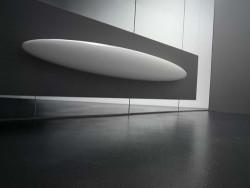 Instamat Blade designradiator 170x25 cm glanzend wit BLADEV
