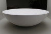 Ink Jazz Large porselein opbouw wastafel mat wit 40x13cm geen kraangat 3430421