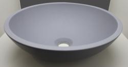 Ink Jazz Large porselein opbouw wastafel quartz grijs 40x13cm geen kraangat 3430422