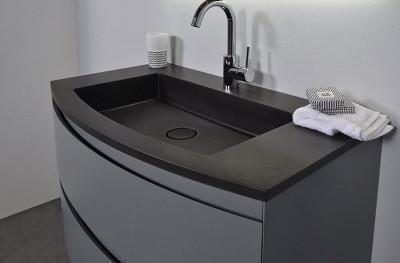 Ink Nauta wastafel quartz zwart 90x51x2cm geen kraangat 3430130