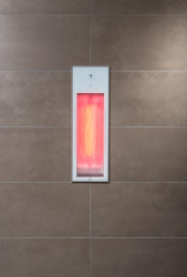 Sunshower Pure White inbouw half body 1x 1250W infrarood lamp 199x619x100cm 80073