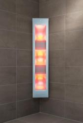 Sunshower Combi White opbouw full body infrarood en UV-lampen 29x22.8x144cm 80052