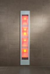 Sunshower Deluxe White inbouw full body infrarood en UV-lampen 32x16x187cm 80015