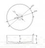 Solid-S Top opbouwwastafel rond mat wit D40 x 12.5cm 1208831862
