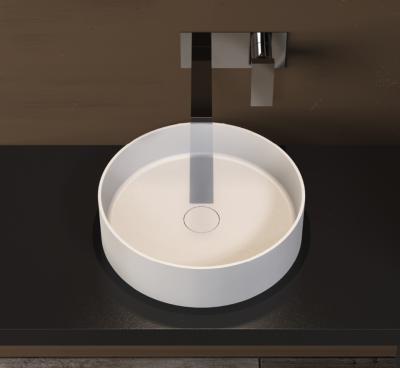 Solid-S Solidthin opbouwwastafel ovaal mat wit D40 x 12.5cm 1208831862