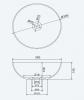 Solid-S Top opbouwwastafel rond mat donker grijs D39 x 14.5cm 1208831892