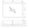 Solid-S Top opbouwwastafel rechthoek mat beige B50xD35xH12.5cm 1208831932