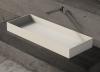 Solid-S Top opbouwwastafel rechthoek mat wit B100 x D37 x H11cm 1208831992