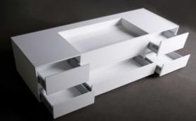 Solid-S Wall Special wastafel met kasten rechthoek mat wit B150xD45xH20cm zonder waste 1208832032