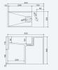 Solid-S Wall Special wastafel rechthoek mat wit B45 x D22 x H38 cm met kraangat 1208832042