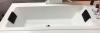 RIHO Lugo ligbad 180x80, mat wit, acryl dunne badrand 1208832252