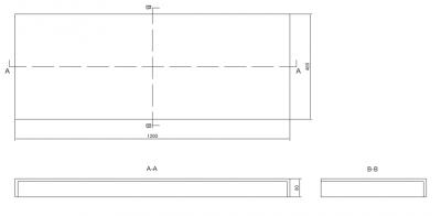 Solid-S onderkast 1 lade greeploos 120x46 mat wit 1208832272