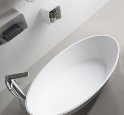 Solid S vrijstaand bad ovaal 180x88x55cm mat wit 1208832352