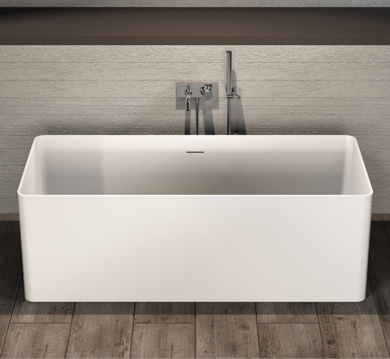 New Solid-S vrijstaand ligbad Solid Surface rechthoek 160 x 70 x 55 cm DQ59