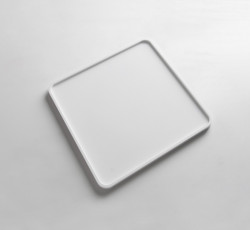 Solid-S dienblad Solid Surface vierkant mat wit 25 x 25 x 1,2 cm 1208832662