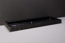 Forzalaqua Palermo wastafel graniet gekapt 100,5 x 51,5 x 9 cm zonder kraangat 100184