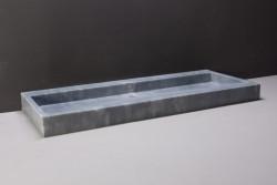 Forzalaqua Palermo wastafel cloudy marmer gezoet 100,5 x 51,5 x 9 cm zonder kraangat 100198