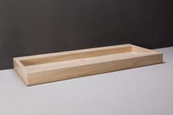 Forzalaqua Palermo wastafel travertin gezoet 100,5 x 51,5 x 9 cm zonder kraangat 100212