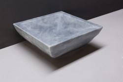 Forzalaqua Siracusa opbouw opzetkom vierkant cloudy marmer gezoet 40 x 40 x 15 cm zonder overloop 100011