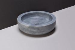 Forzalaqua Verona opbouw opzetkom rond cloudy marmer gezoet 40 x 12 cm zonder overloop 100007
