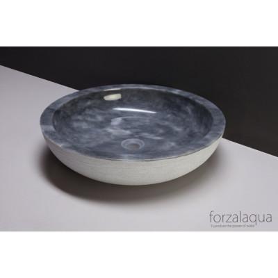 Forzalaqua Verona XL opbouw opzetkom rond cloudy marmer gepolijst 50 x 12 cm zonder overloop 100066
