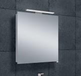 Luxe spiegelkast 60cm met led verlichting opbouw en stopcontact volledig aluminium 1208846372