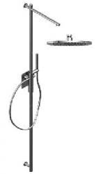 Zazzeri thermostatische inbouwdoucheset met hoofddouche 220 mm en handdouche chroom 1208849662