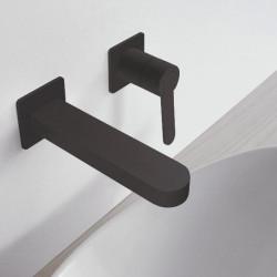 Zazzeri Trend inbouw mengkraan mat zwart met uitloop 180mm 1208850932