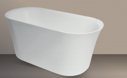 Xenz Flavio vrijstaand bad ligbad Solid Surface 160x72cm wit 8509