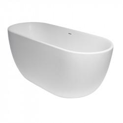 Xenz Humberto vrijstaand bad ligbad Solid Surface 170x72cm wit 8510
