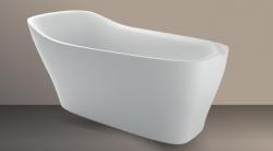 Xenz Mattia vrijstaand bad ligbad Solid Surface 182x86cm wit 8511