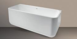 Xenz Guido vrijstaand bad ligbad Solid Surface 160x71cm wit 8518
