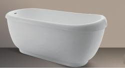 Xenz Vito vrijstaand bad ligbad Solid Surface 167x74cm wit 8520