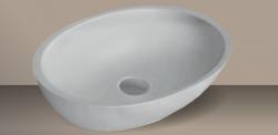 Xenz Sio opbouwwaskom Solid Surface wit 58 x 40cm zonder overloop 8512
