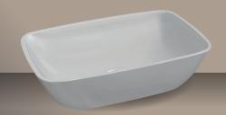 Xenz Romeo opbouwwaskom Solid Surface wit 55 x 40cm zonder overloop 8513