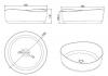 Solid-S Top opbouwwastafel rond mat wit D40X13cm 1208852532