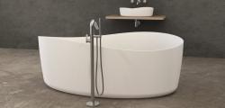 Solid-S vrijstaand bad ovaal 175x100x62cm mat wit 1208852542