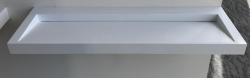 Solid-S Quatra wastafel solid surface mat wit zonder kraangat 120 x 45,5 x 8 cm 1208852742