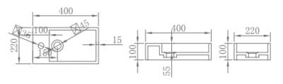 Solid-S Fontein Mat wit B40xD22xH10 cm mat wit 1208852762