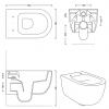 Flavio Murano rimless wandtoilet mat wit incl. softclose zitting en quickrelease FM0101