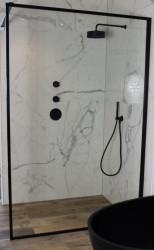 Flavio Napoli Nero MAATWERK inloopdouche helder glas - Mat Zwart Kader - 1208889622