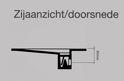 Solid-S Flat solid surface wastafel 240x50x10cm mat wit - 2 wasbakken 1208911332