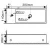 Blusani fonteincombinatie links 38x14x8 cm wit - RVS 1208911652