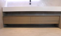 TopLine massief eiken badmeubel met 2 laden en topblad 200cm - kleur Naturel 1208791292